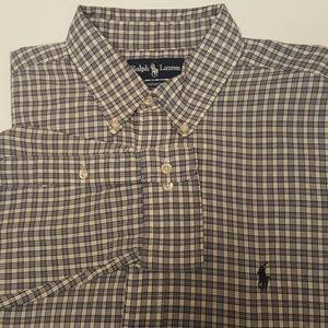 Mens Ralph Lauren Polo Shirt L 16.5